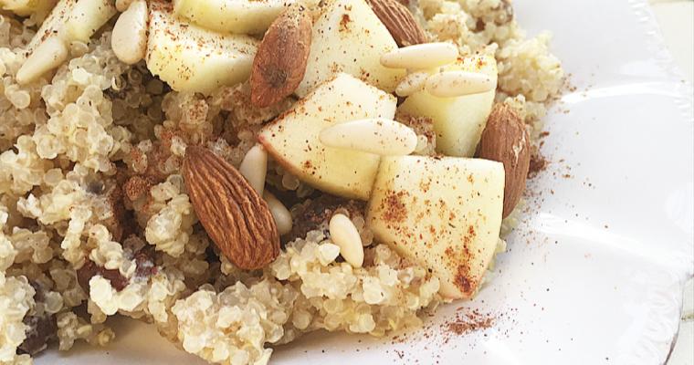 Apple strudel quinoa porridge. #Vegan