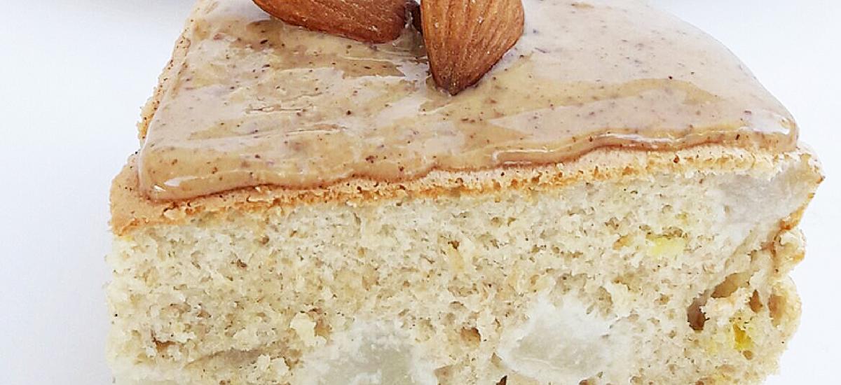 Pancake cialda e cioccolato bianco con pera e limone.