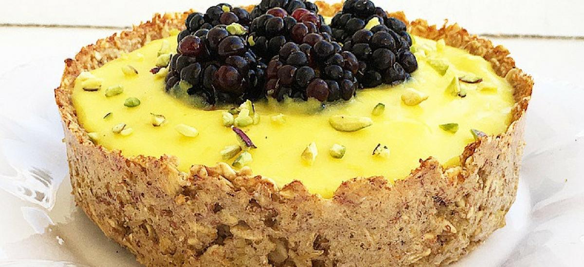 Bowl di avena integrale con crema pasticcera #amodomio senza zuccheri e grassi.