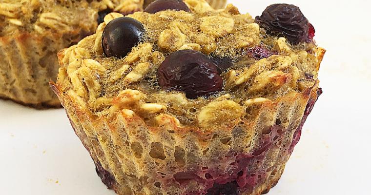 Muffin senza farina integrali ai mirtilli