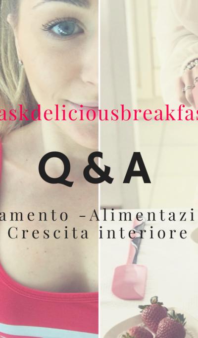 Q&A – Rispondendo alle vostre domande.