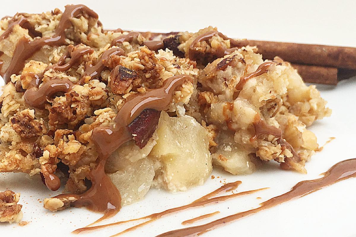 Crumble di mele light alle mandorle, senza zucchero e burro – Viva la Semplicità!
