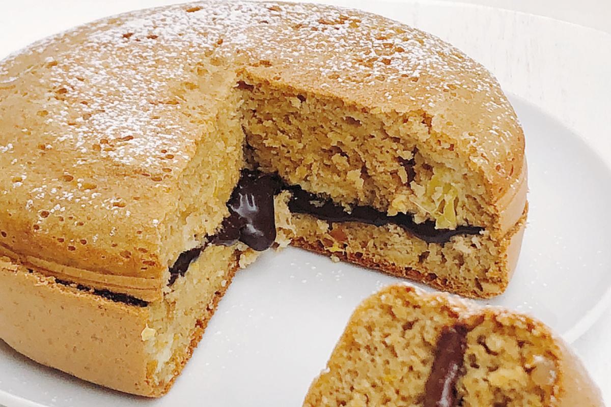 Torta soffice arancia , mandorle tostate e cioccolato senza forno – 100% Naturale & Sana
