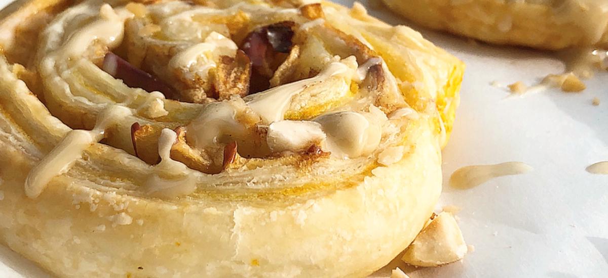 Sfogliarelle mele e crema pasticcera #amodomio – Girelle di pasta sfoglia light