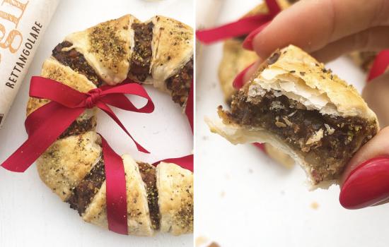 Ghirlanda dolce di pasta sfoglia light – A Natale puoi!