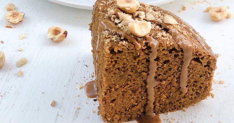 Torta cotta a bagnomaria alla zucca, caffè e nocciole con farina di castagne