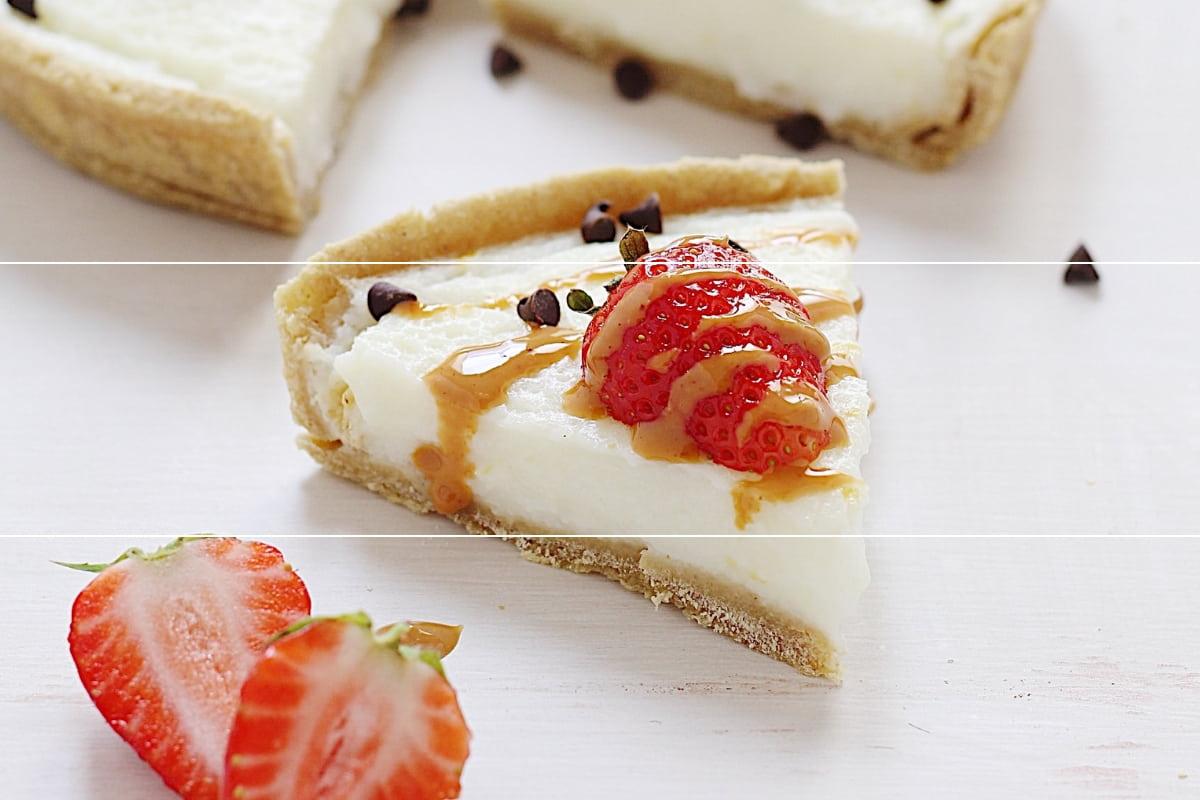 Crostata integrale con crema di albumi alla vaniglia e gocce di cioccolato