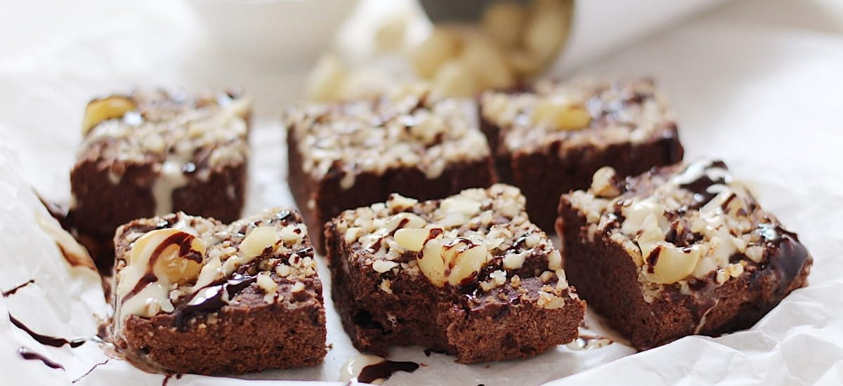 Brownies alle noci di macadamia e cocco – No lievito!