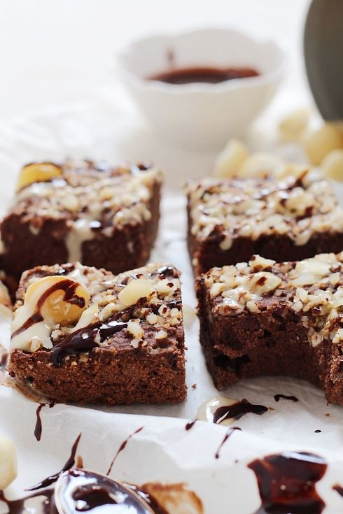 brownies alle noci di macadamia