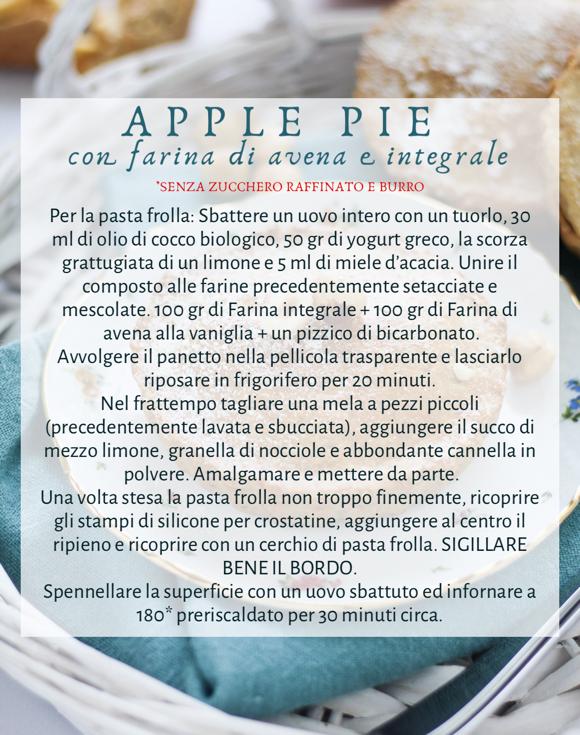 Apple Pie con farina d'avena