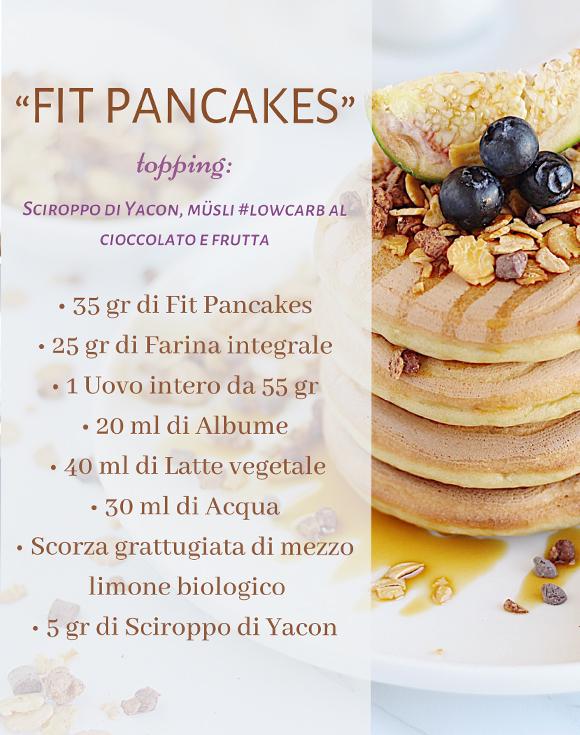 Fit pancakes - cioccolato e frutta