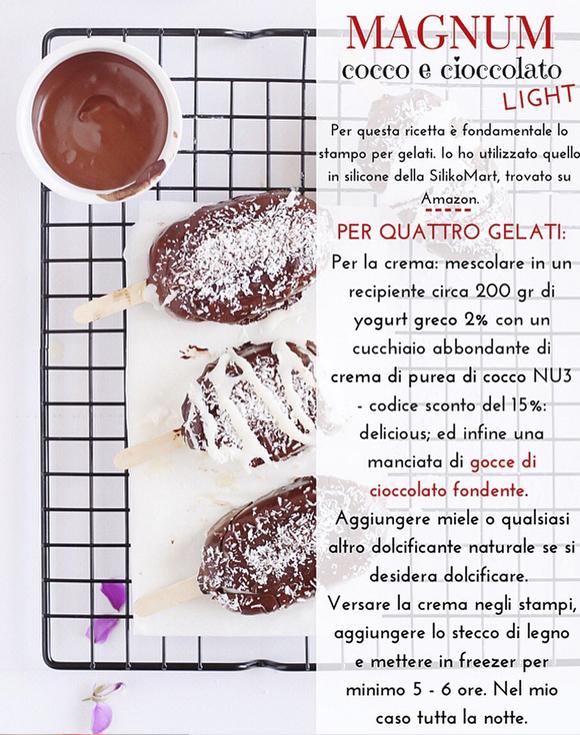 Magnum - cocco e cioccolato - procedimento 1