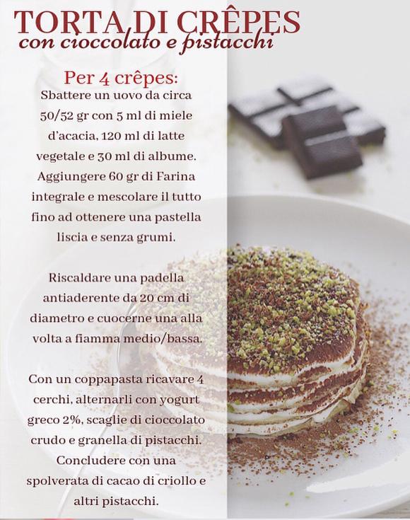 Torta di crepes - cioccolato e pistacchi