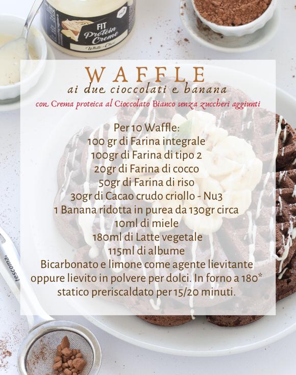 Waffle - due cioccolati e banana