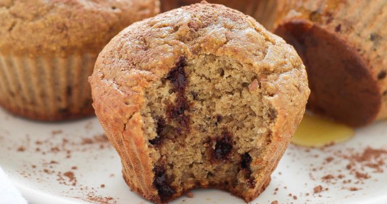 Muffin con farina di castagne e gocce di cioccolato fondente