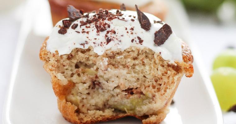 Muffin integrali all'uva, sani e leggeri