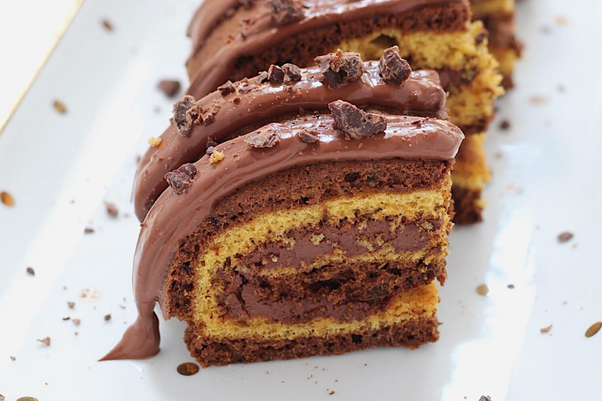 Rotolo di pasta biscotto light al cacao e vaniglia