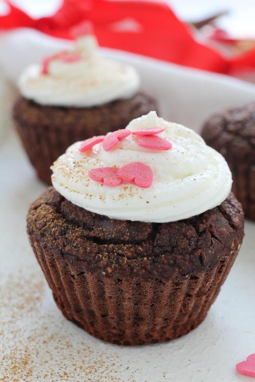 Muffin al cioccolato per san valentino