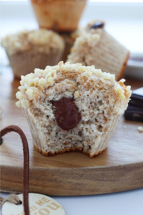 Muffin con cuore cremoso, sani e leggeri