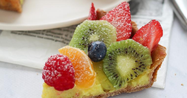 Crostata integrale alla frutta con crema pasticcera #amodomio
