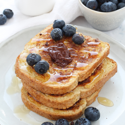 french toast in padella con pan bauletto integrale