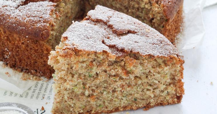 Torta dolce di zucchine integrale | versione rivisitata con ingredienti semplici