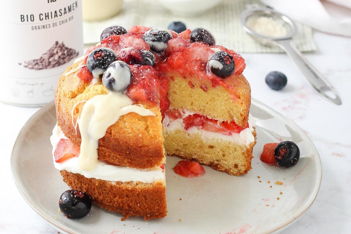 Torta fredda alle fragole e yogurt