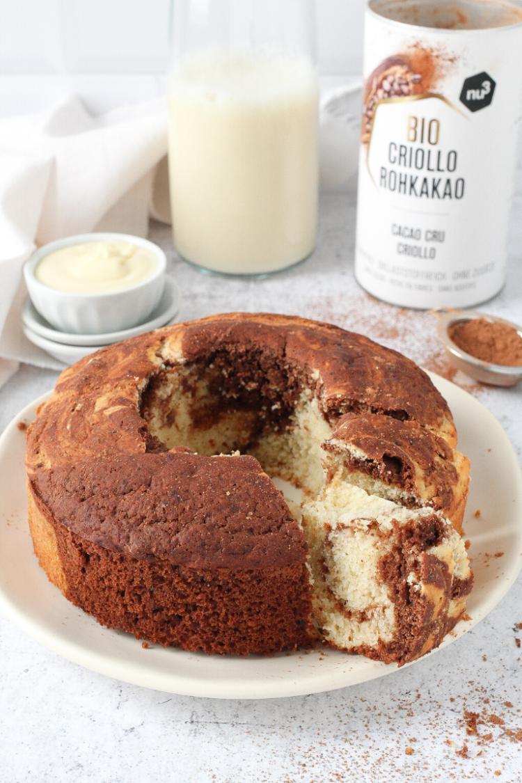 Marble Cake senza zucchero e burro | con farina di farro