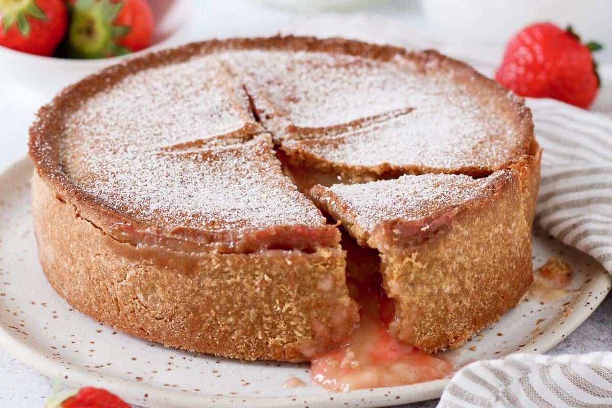 Torta Basca senza burro – versione rivisitata alle fragole