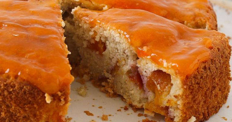 Torta alle pesche – senza zucchero aggiunto, burro e latticini