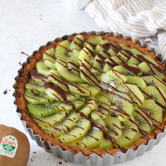 Crostata light con crema pasticcera e Kiwi Green Zespri