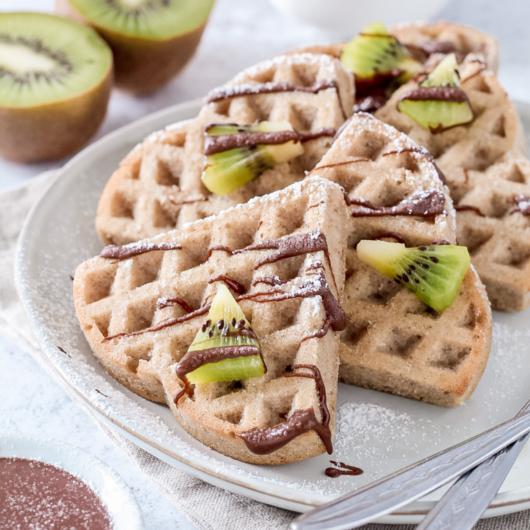 Waffle senza glutine, lattosio e zuccheri aggiunti con farina di avena